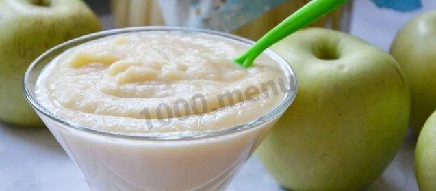 Яблочное пюре рецепт с фото пошагово в домашних условиях