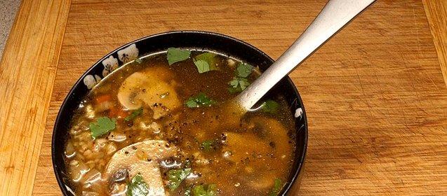 Суп с шампиньонами и гречкой рецепт