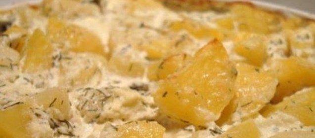 Картошка со сметаной пошаговый рецепт с фото со сметаной