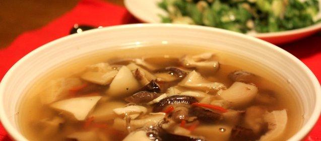 Простой грибного супа из замороженных грибов