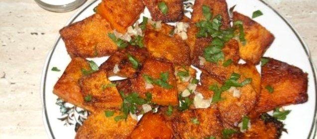 Жареная тыква на сковороде рецепт с фото