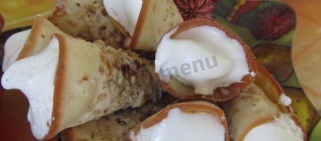 Трубочка с белковым кремом рецепт пошагово