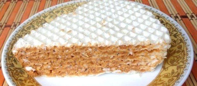 Вафельные коржи для торта рецепт со сгущенкой