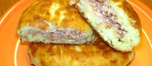 Пирожки жареные на кефире пошаговый рецепт