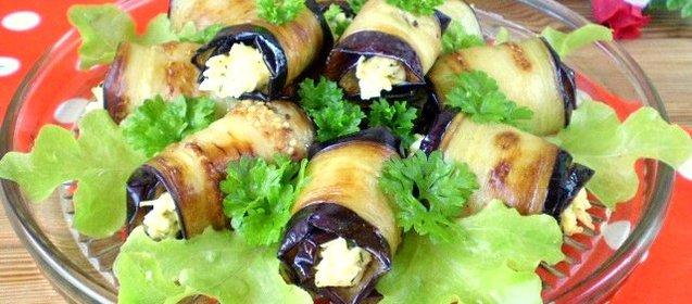 Жареные баклажаны с начинкой рецепт
