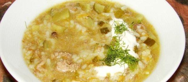 Рассольник с рисом и курицей рецепт