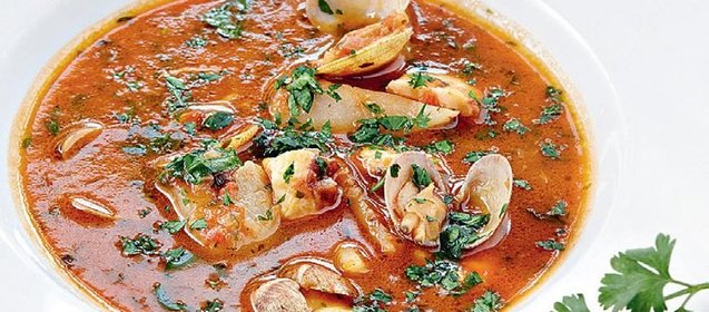 Рецепт томатный суп с морепродуктами рецепт