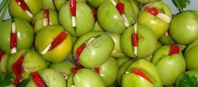 Простыеы зеленых помидор на зиму