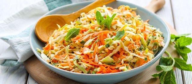 Салат с капустой и морковью с уксусом как в столовой рецепт