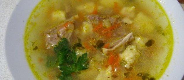 Суп с клецками пошаговый рецепт с с говядиной
