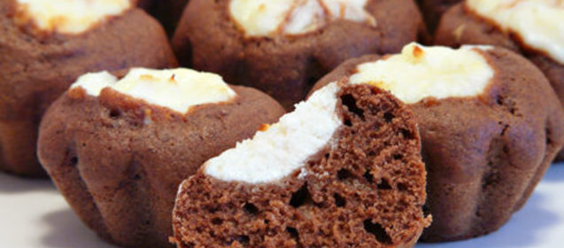 Творожные маффины шоколадные рецепт пошагово