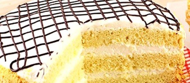 Рецепт торта бисквит со сметанным кремом
