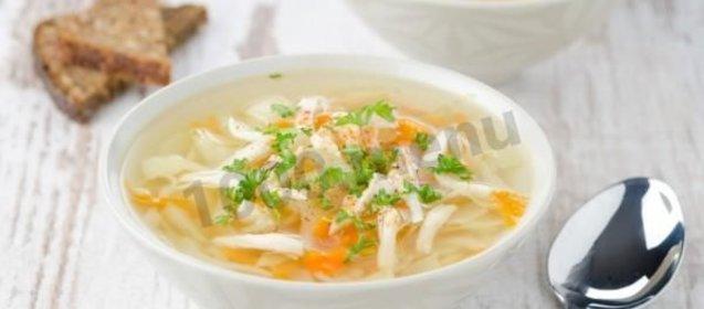 Куриный суп с вермишелью пошаговый рецепт