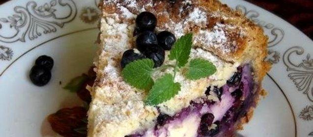 Вкусный пирог с черникой пошагово с