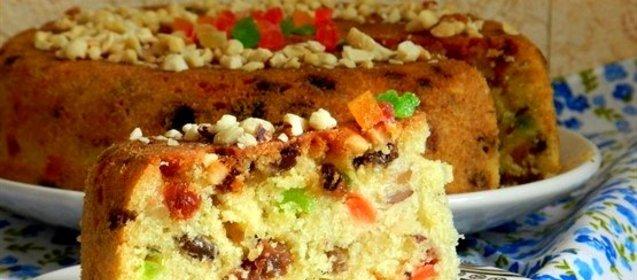 Кекс с орехами и цукатами рецепт пошагово