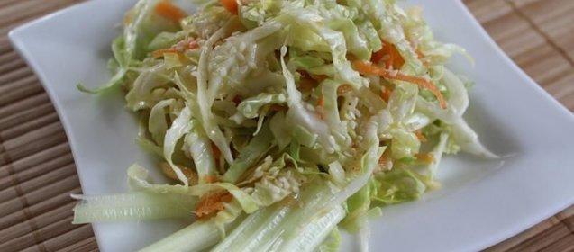 Рецепт салат капуста с яблоком и морковью и