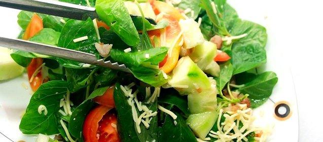 Салат из шпината рецепт с фото