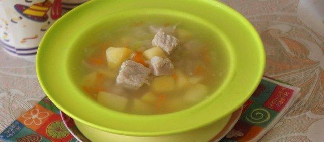 Рецепт супа на мясном бульоне с рисом