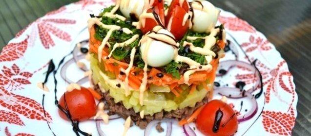 Домашний ресторан салаты рецепты с